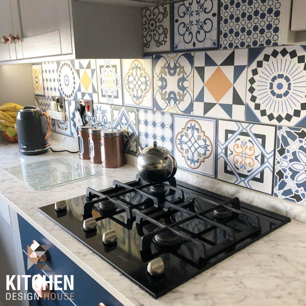 boho kitchen tiles