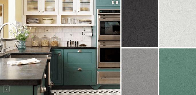 example of kitchen colour scheme plan