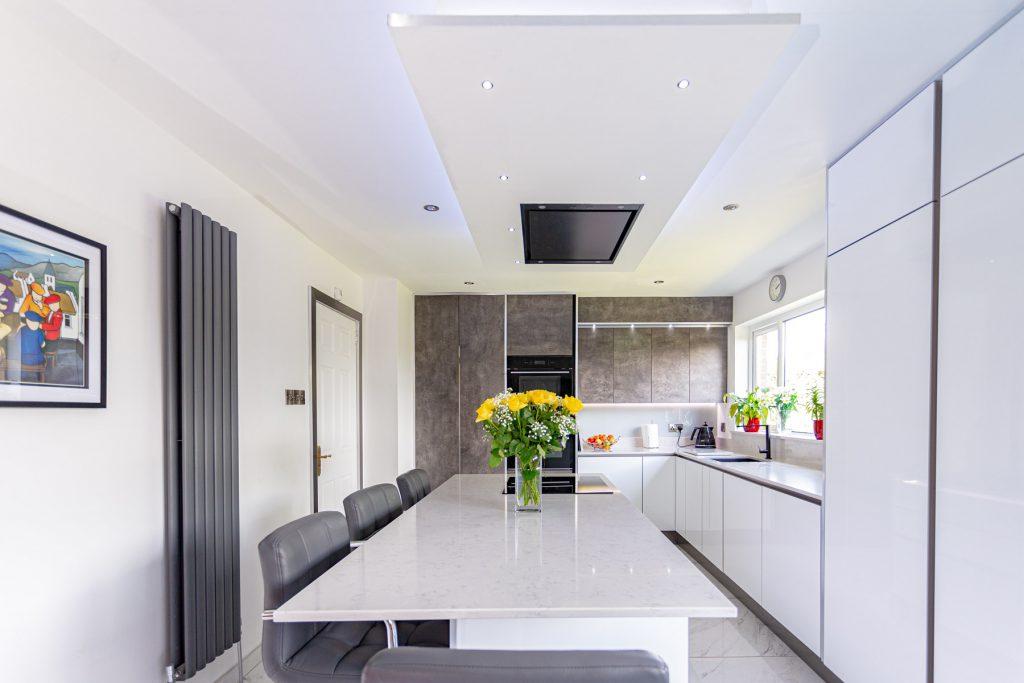 sleek and chic monochrome kitchen