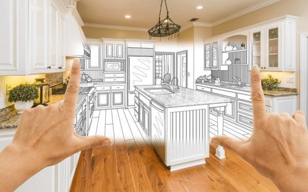 kitchen half real life half on paper